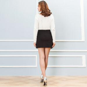 2016 Korean Women Spring Package Hip Skirt Pocket Wild High Waist Cotton Skirts pictures & photos