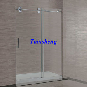 High Quality Frameless Interior Tempered Glass Sliding Folding Door pictures & photos
