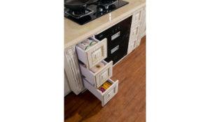 White PVC Foil Laminate Kitchen Cabinet (zc-007) pictures & photos