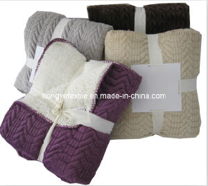 100% Polyester Micro Mink Fleece Quliting Blanket