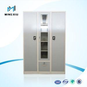 Customized 3 Door Kd Steel Furniture Different Colour Steel Clothes Almirah Design / Iron Almirah pictures & photos