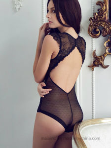High Quality Sexy Lace Ladies Sleepwear pictures & photos
