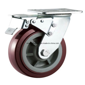Heavy Duty Swivel Total Lock PU Caster Wheel