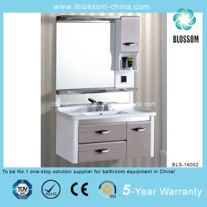 Made in China PVC Design Wall up Bathroom Cabinet (BLS-16002) pictures & photos