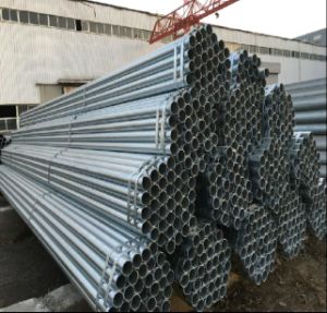 Q235 Construction Galvanized Round Steel Tube/Welded Pipe pictures & photos