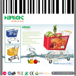 American Style Plastic Shopping Trolley Cart pictures & photos
