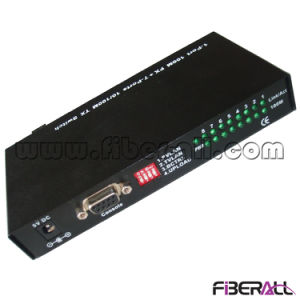 10/100m Media Converter One Fiber Port and Seven RJ45 Ports pictures & photos