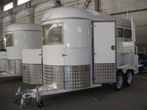 2 Horse Float 2horse Trailer) Straight Load with Tool Box Gw Floats pictures & photos