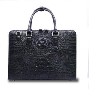 2017 Quality Men Genuine Crocodile Leather Bag Shoulder Laptop Briefcase pictures & photos
