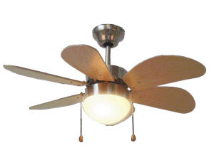 China 30Ceiling Fan With Light 6 Blades
