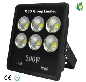 Outdoor Use IP66 300W LED Flood Lighting with Black Aluminum Alloy CRI. 80 pictures & photos