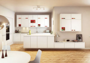 Ritz New Style White Wood Kitchen Cabinets pictures & photos