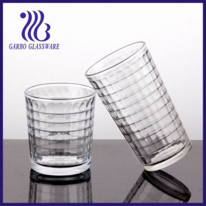7-16oz Water Glass with Gridiron Designs (TK-1238C & TK-507C) pictures & photos
