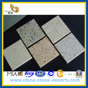 Solid Surface White Artificial Quartz Stone for Kitchen Countertop (YQZ-QS1010) pictures & photos