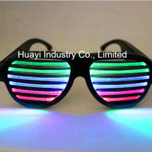 USB Rechargeable Sound Reactive LED Slotted Glasses pictures & photos