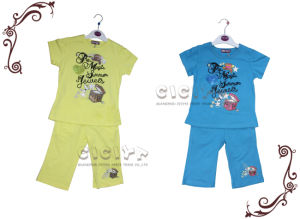 Girl′s Pajama Set (S10146)