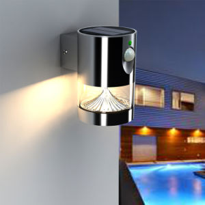 Outdoor Sensor LED Night Wall Garden Solar Power Supply Light pictures & photos
