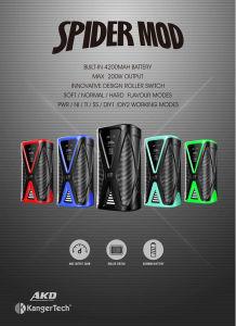 Kangertech Roller Switch 200W DIY Modes Spider E-Vape pictures & photos