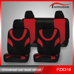 Black and Red Cloth Seat Cover
