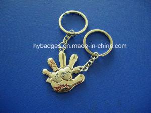 Lovely Panda Keychain, Enamel Metal Key Ring (GZHY-KA-021) pictures & photos