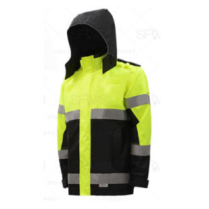 Outdoor Work Jacket with 3m Safety Reflective Tape (QF-582) pictures & photos