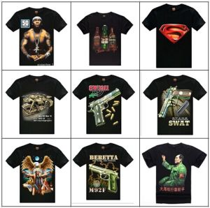 Cheap Wholesale Offer T Shirts Fashion 2014 Europe and America Famous People 3D Print Rock Tee Short Sleeve T-Shirts T Shirt Men