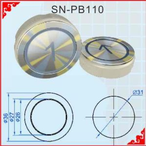 Elevator Push Button for Kone (SN-PB110) pictures & photos