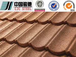 Fire Resistant Material Stone Coated Steel Roofing Tile