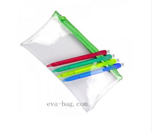 Heat Sealed Clear A4 PVC Document File Bag with Button Closure pictures & photos
