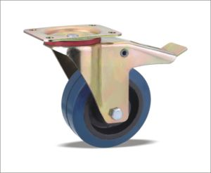 Swivel Caster With Elastic Rubber Wheels pictures & photos