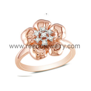 Rose Plated 925 Silver Rose Design Rings