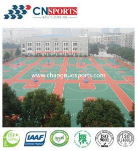 Outdoor Gym Floor, Spu Sport Court Rubber Elastic Flooring pictures & photos