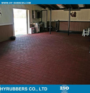 Shock Proof Recycled Rubber Material Cheap Rubber Dog Bone Tile, Interlock Rubber Floor Tile pictures & photos