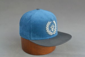 5-Panel Corduroy Snapback Cap with 3D Embroidery pictures & photos