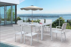 Garden Rattan Outdoor Wicker Patio Home Hotel Office Restaurant Venice Dining Table and Chair (J675) pictures & photos