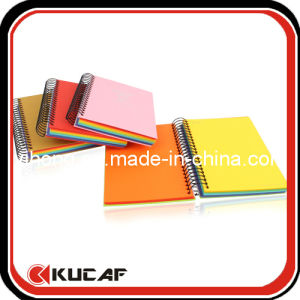 Hot Stamping Logo Spiral Notebook with Colorful Paper pictures & photos