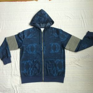 Men Denim Transfer Print Sport Tracksuit Clothes in Adult Sport Wear Fw-8665 pictures & photos