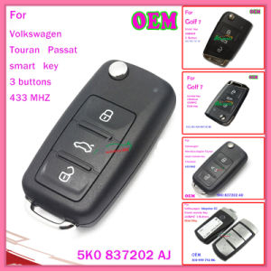 Auto Key for Volkswagen Touran Passat Samrt 5k0 837202 Aj pictures & photos