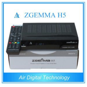 Dual Core Satellite Receiver Zgemma H5 Combo DVB-S2+DVB-T2/C Tuner Hevc/H. 265 PVR Ready pictures & photos