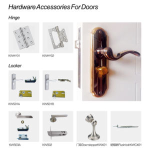 Waterproof Fire-Resistant WPC PVC Laminated Entry Door for Toilet (KMB-07) pictures & photos