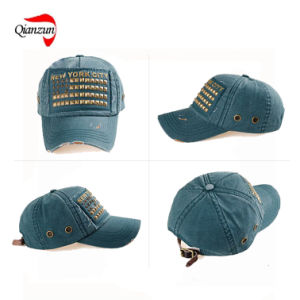 2016 Spring and Summer New Style Baseball Cap with Rivet Patched pictures & photos