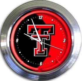 Texas Tech Neon Clock