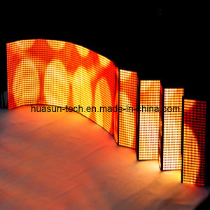 Rental Full Color Foldable LED Video Curtain, Flexible LED Display pictures & photos