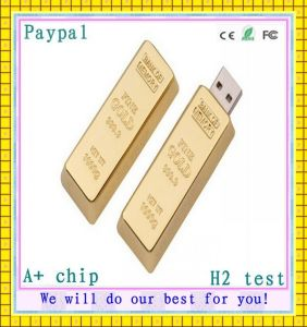 Golden Brick USB Flash Disk (GC-G009) pictures & photos