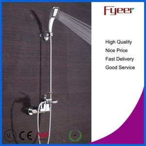 Wall Mounted Waterfall Bathtub Faucet with Hand Shower Head pictures & photos