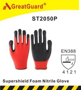 Sandy Nitrile Glove-Hi-Vis Yellow (ST2050HVY) pictures & photos