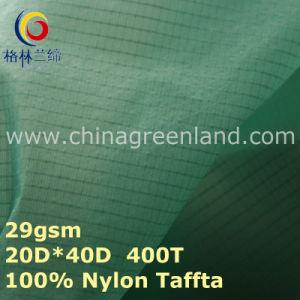 Spandex Nylon Taffeta Plaid Fabric for Waterproof Spoertswear (GLLML279) pictures & photos