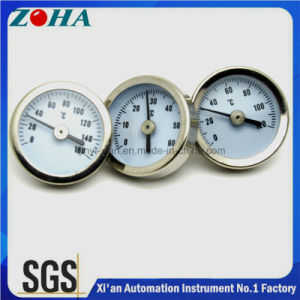 Pipe Mounting Type Bi-Metal Thermometer with Spring pictures & photos