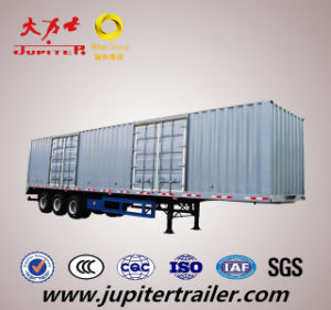 High Quality 13m Tri Axle Van Semi Trailer for Light Cargo