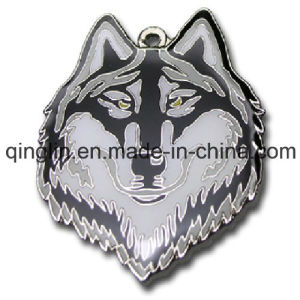 Custom Wolf Pattern Metal Pet Tag (QL-GP-0018) pictures & photos